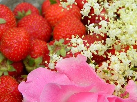 Fragole e fiori, aromaterapia e profumi