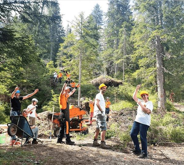i volontari della fondazione giant trees di andrea maroe